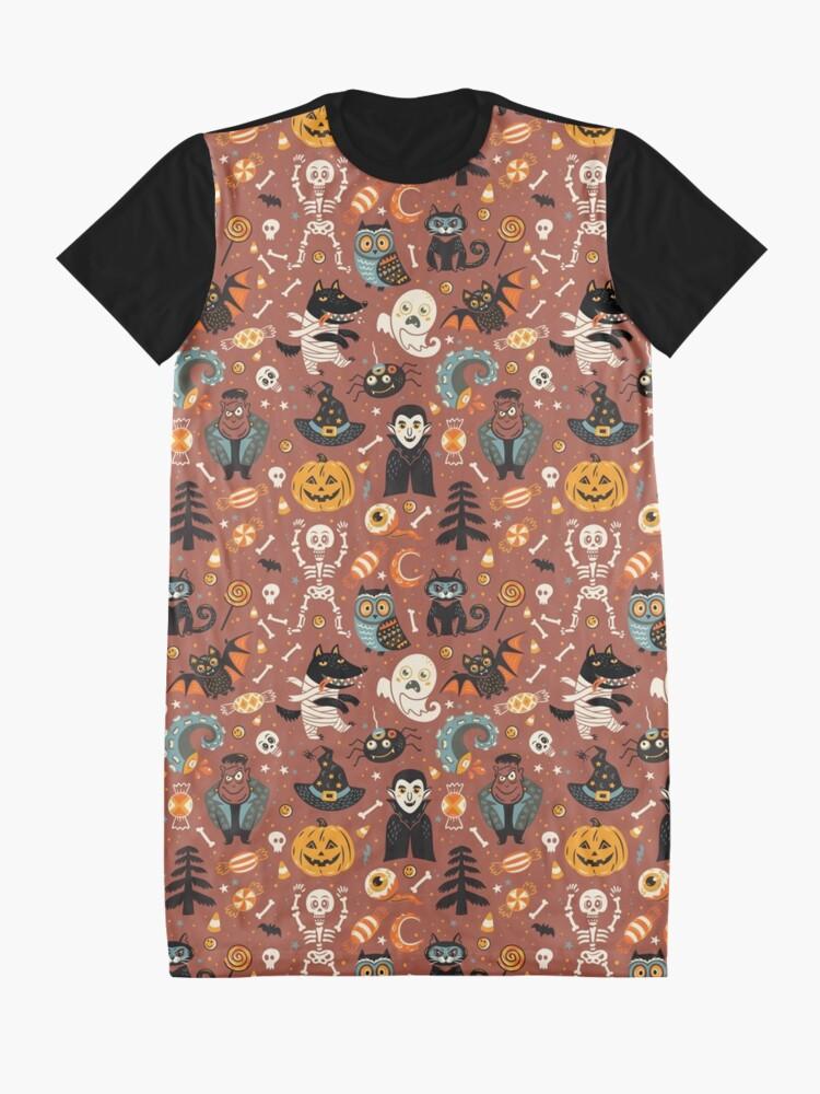 Alternate view of Happy Halloween Graphic T-Shirt Dress