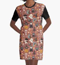 Fröhliches Halloween T-Shirt Kleid