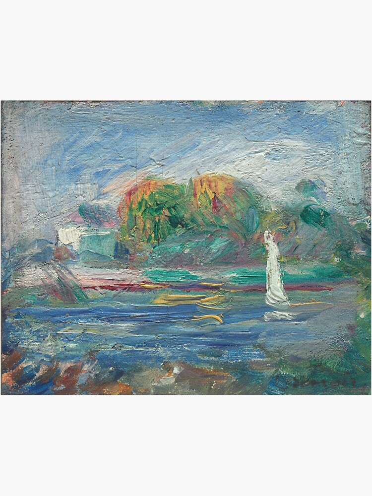 The Blue River Oil Painting by Auguste Renoir by podartist