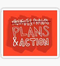 Plans & Actions Sticker