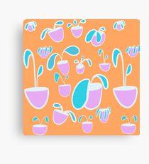 Garden party Peach Canvas Print
