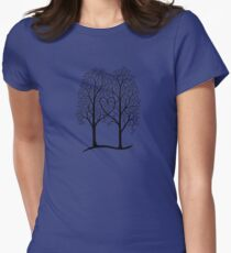 Interwoven trees Women's Fitted T-Shirt