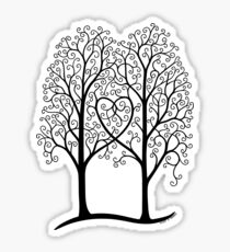 Interwoven trees Sticker