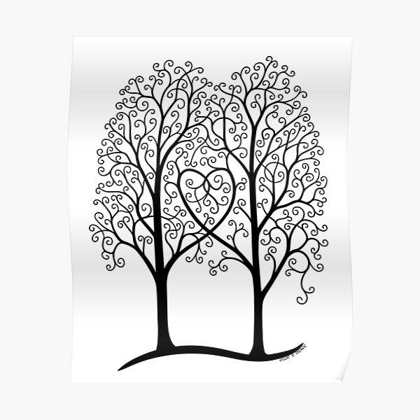 Interwoven trees Poster