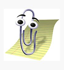 Clippy | Office Assistant Photographic Print