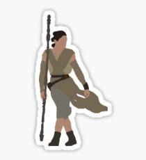 rey silhouette  Sticker