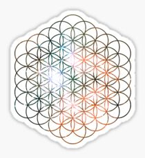 Kid Cudi Galaxy [Red] Flower of Life | Sacred Geometry Sticker