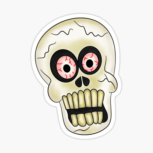 Hallowween Skull Sticker