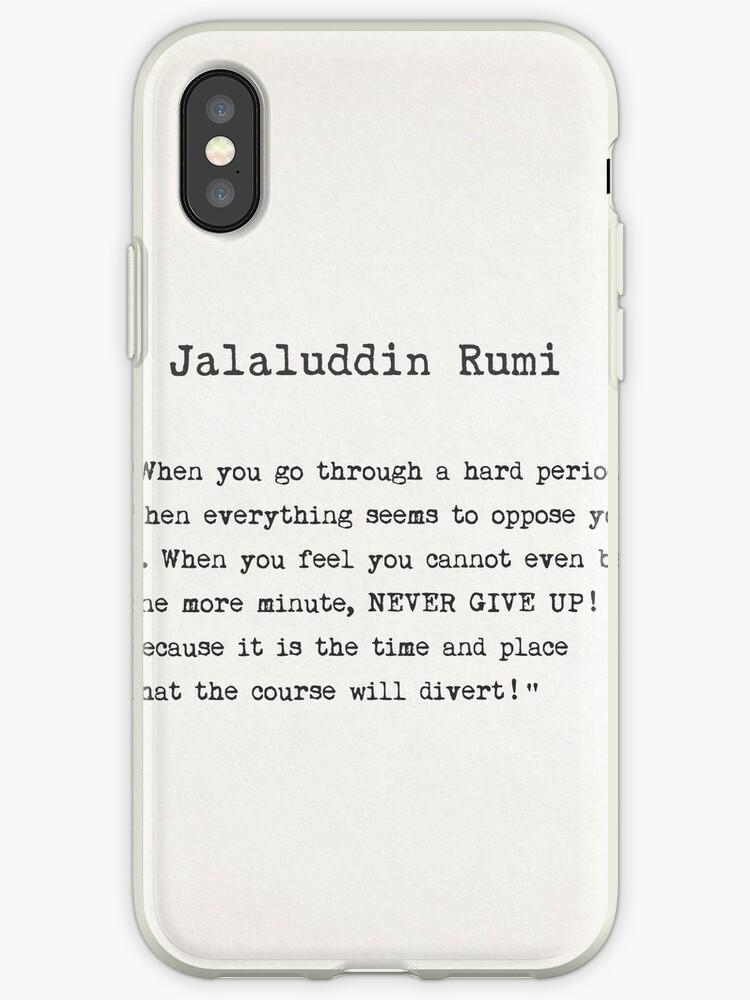 Jalaluddin Rumi Quote Iphone Case By Pagarelov