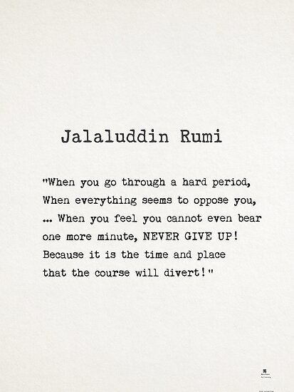 Rumi Quotes Mesmerizing Jalaluddin Rumi Quote Posters By Pagarelov Redbubble