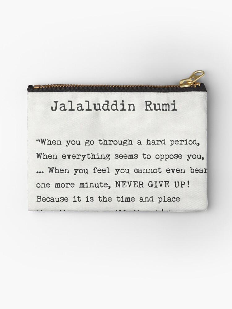 'Jalaluddin Rumi quote' Zipper Pouch by Pagarelov