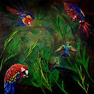 Macaw Birds at Play by Ciska