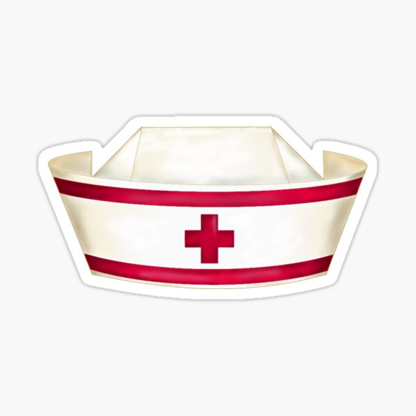 Red and White Nursing  Sticker