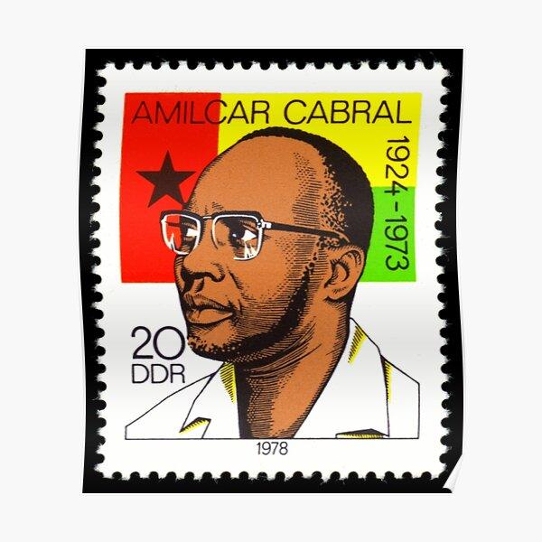 Amílcar Cabral-3 DDR Stamp Poster