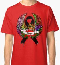 Black Ribbon Vegas Massacre Tribute Angel T-Shirt Oct 1st 2017 Rip Tattoo Art Classic T-Shirt