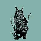 Owl and Skull by TurkeysDesign