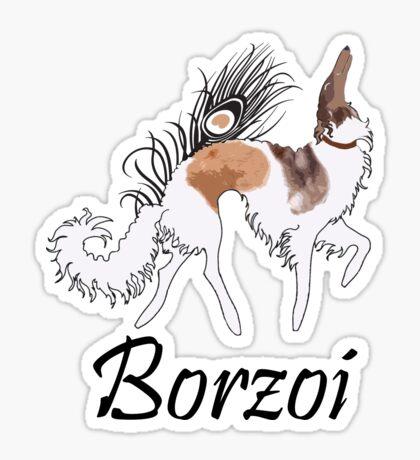 Sable Borzoi Sticker