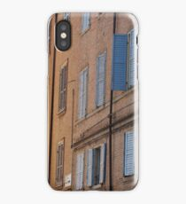 Modena - Blue and yellow streetscape iPhone Case/Skin