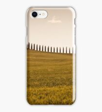 Tuscan farmhouse and cypress trees iPhone Case/Skin