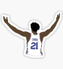 Joel Embiid Embrace The Crowd Sticker