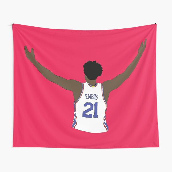 Joel Embiid Embrace The Crowd Tapestry