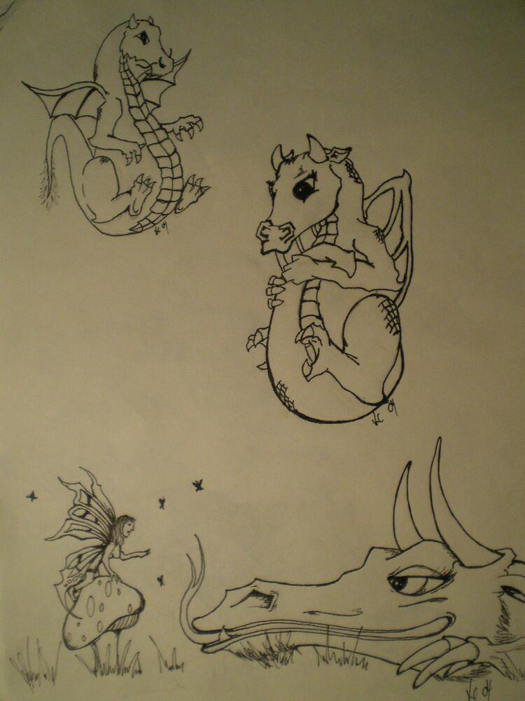 Cute dragons by KYL1E