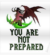 Du bist nicht vorbereitet Poster