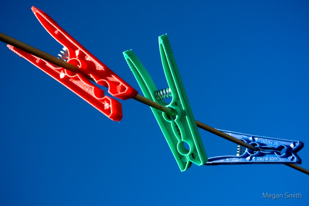 Red Green and Blue Pegs by Tim Smith