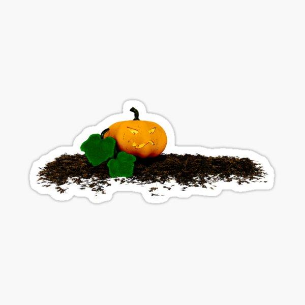 grinning halloween pumpkin Sticker