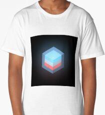 layered cube cross section Long T-Shirt