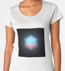 layered cube cross section Women's Premium T-Shirt