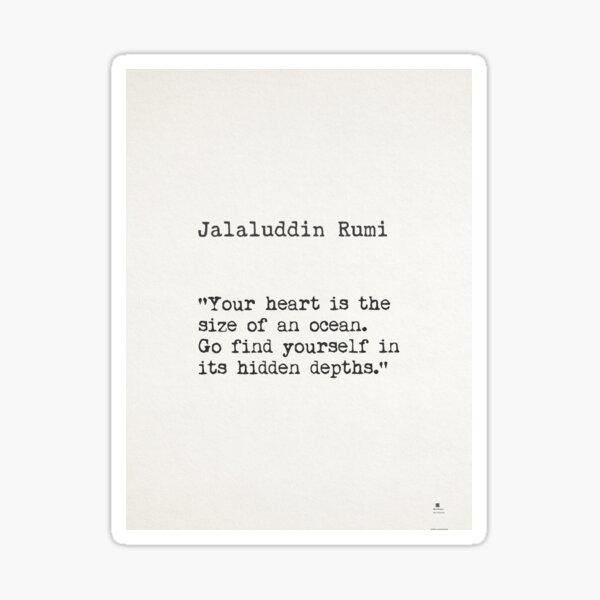 Rumi quote Sticker