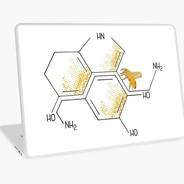 Nectar of life: Serotonin and Dopamine chemical formulas Laptop Skin