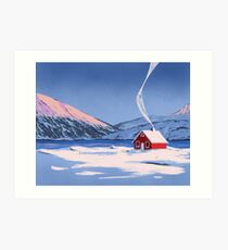 rotes Haus Kunstdruck