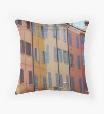 Modena - Streetscape colours Throw Pillow