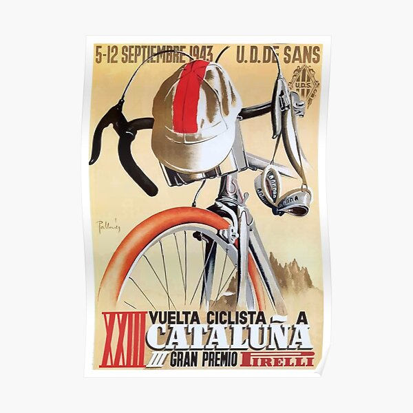 1943 Spain Tour of Catalonia Bicycle Race Poster Poster