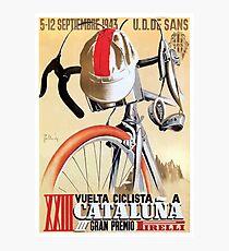 Lámina fotográfica Cartel de la carrera ciclista de la gira de España de 1943