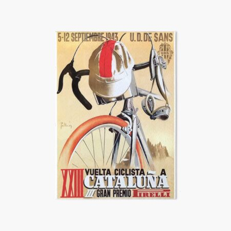 1943 Spain Tour of Catalonia Bicycle Race Poster Art Board Print