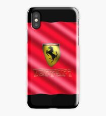 Wavy Red Ferrari Flag iPhone Case/Skin