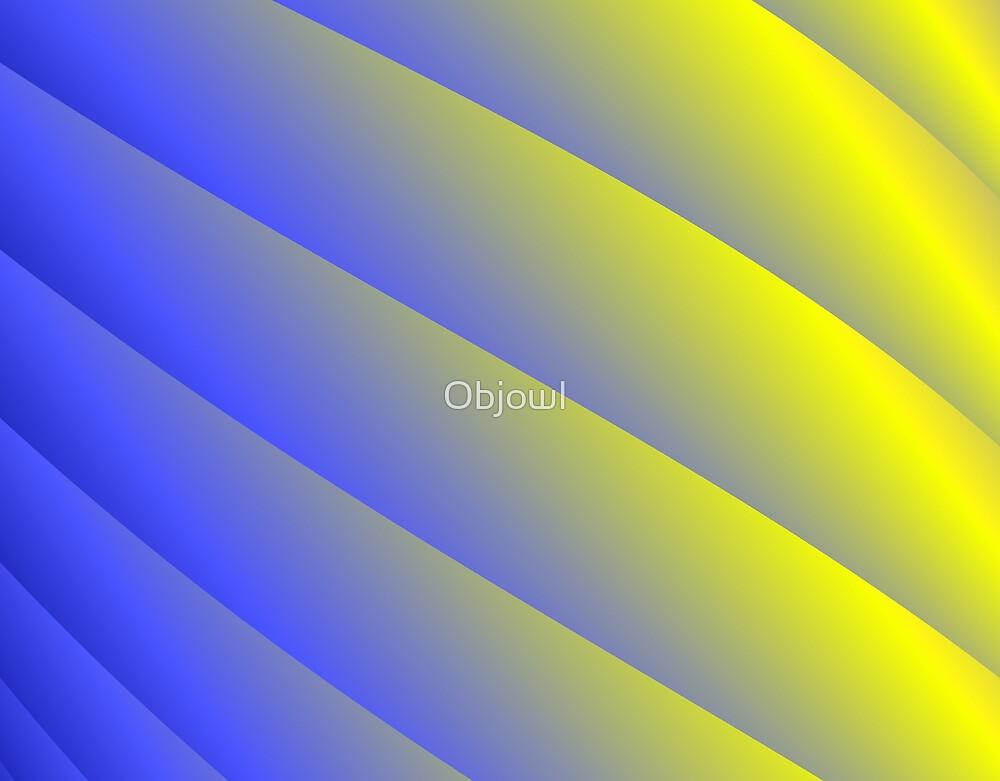 Blue & Yellow Spiral Column by Objowl