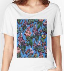 Bright blue Garden Flowers Women's Relaxed Fit T-Shirt
