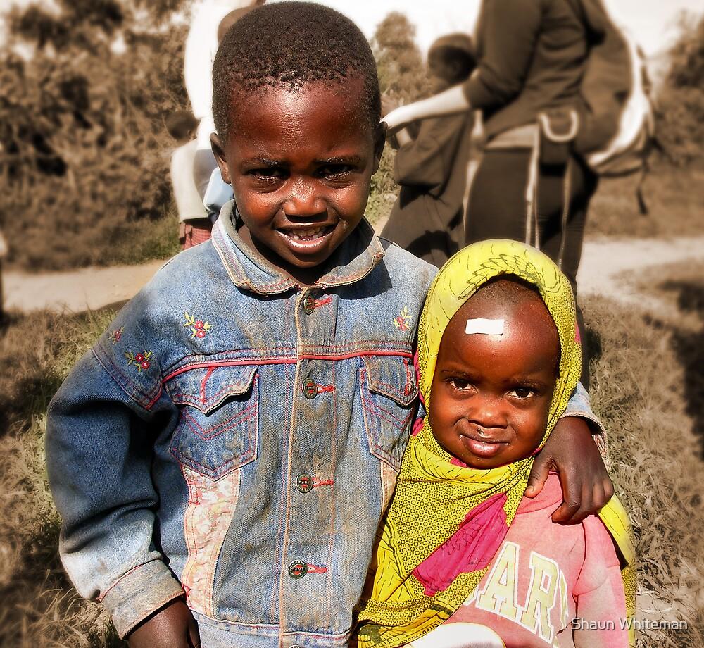 Masai brother and sister by Shaun Whiteman