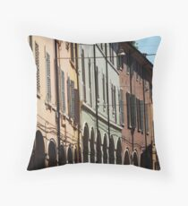 Modena - shadows, shutters and arches Throw Pillow