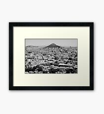 postcard view Framed Print