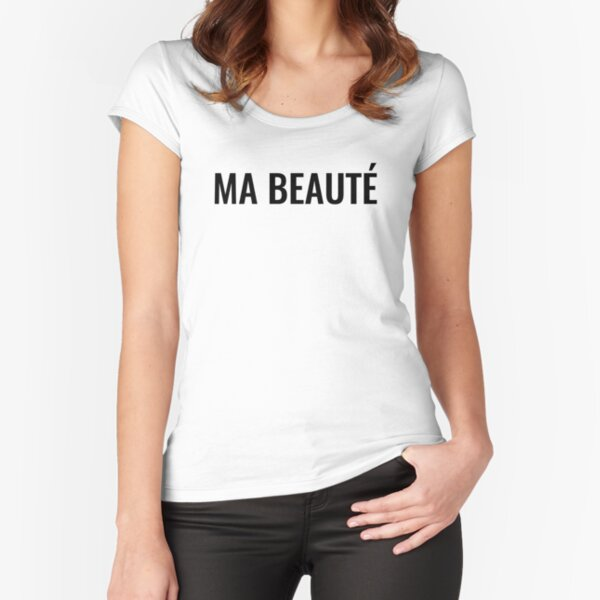 Ma beauté Fitted Scoop T-Shirt