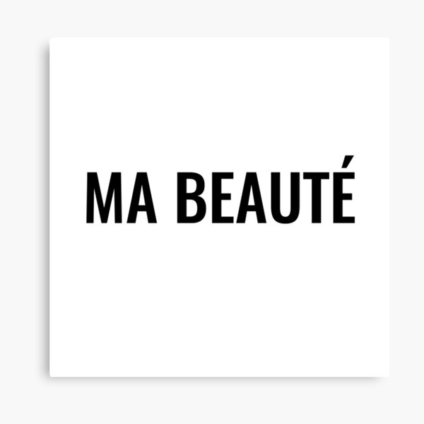 Ma beauté Canvas Print