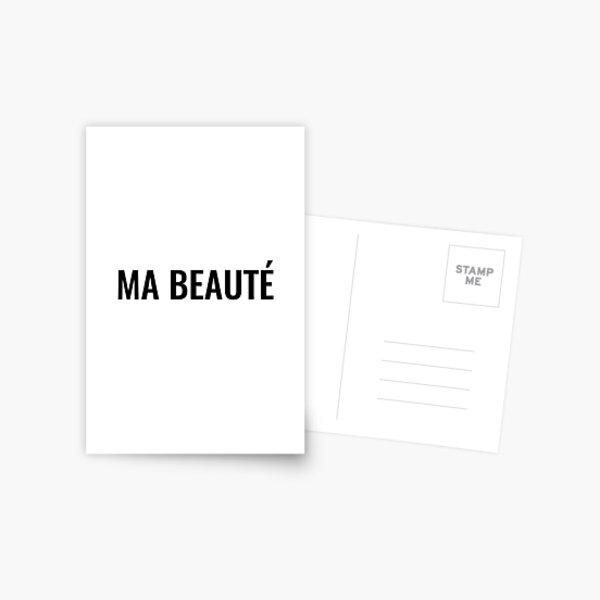 Ma beauté Postcard
