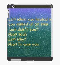 roswell max and liz alien tv show iPad Case/Skin