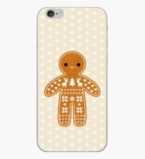 Sweater Pattern Gingerbread Cookie iPhone Case