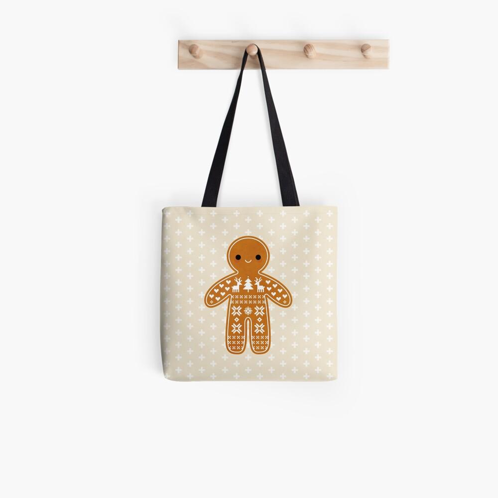 Strickjacke-Muster-Lebkuchen-Plätzchen Tote Bag